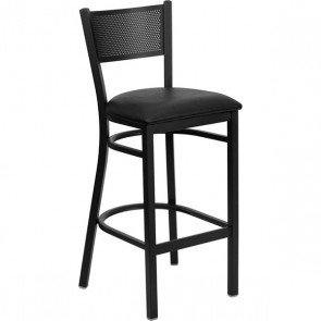 Barstool Black Cushion on Black CI-875-B6