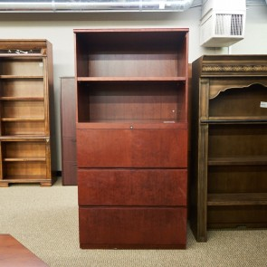 Used 3 Drawer Lateral File with Bookcase Hutch FIL1579-009