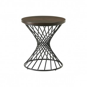Ellie International Tammi End Table with Spiral Base