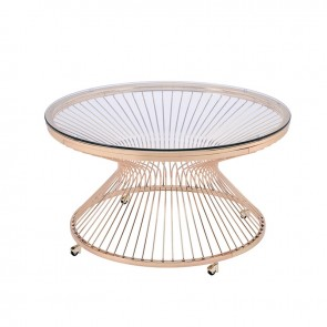 Front - Ellie International Lavar Occasional Table (Gold)