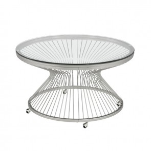 Front - Ellie International Lavar Occasional Table (Chrome)