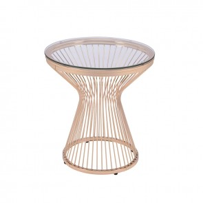 Ellie International Lavar End Table (Gold)