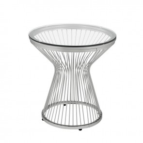 Front - Ellie International Lavar End Table (Chrome)