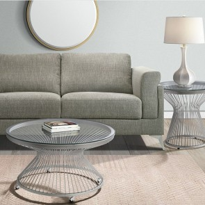 Ellie International Lavar End Table (Chrome)