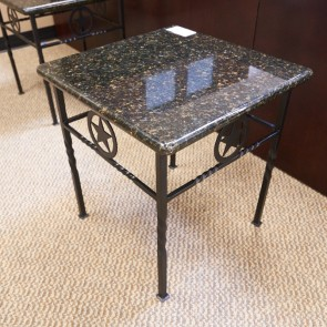 Used 21x21 Granite Top Lone Star Occasional Table OCC1698-008