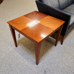 """Used 26"""" Square Lamp Table (Cherry) OCC1711-017"""