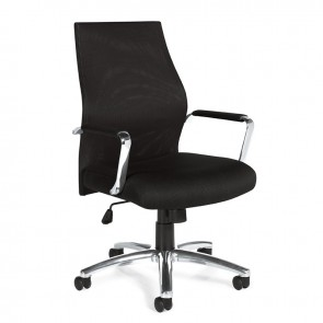 OTG High Back Mesh Executive Chair POL ALUM OTG 11657B (Black)